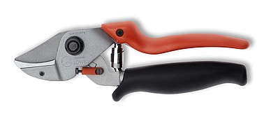 LÖWE 7.109 - Anvil pruner with curved blade  and short cutting head, with rotating handle